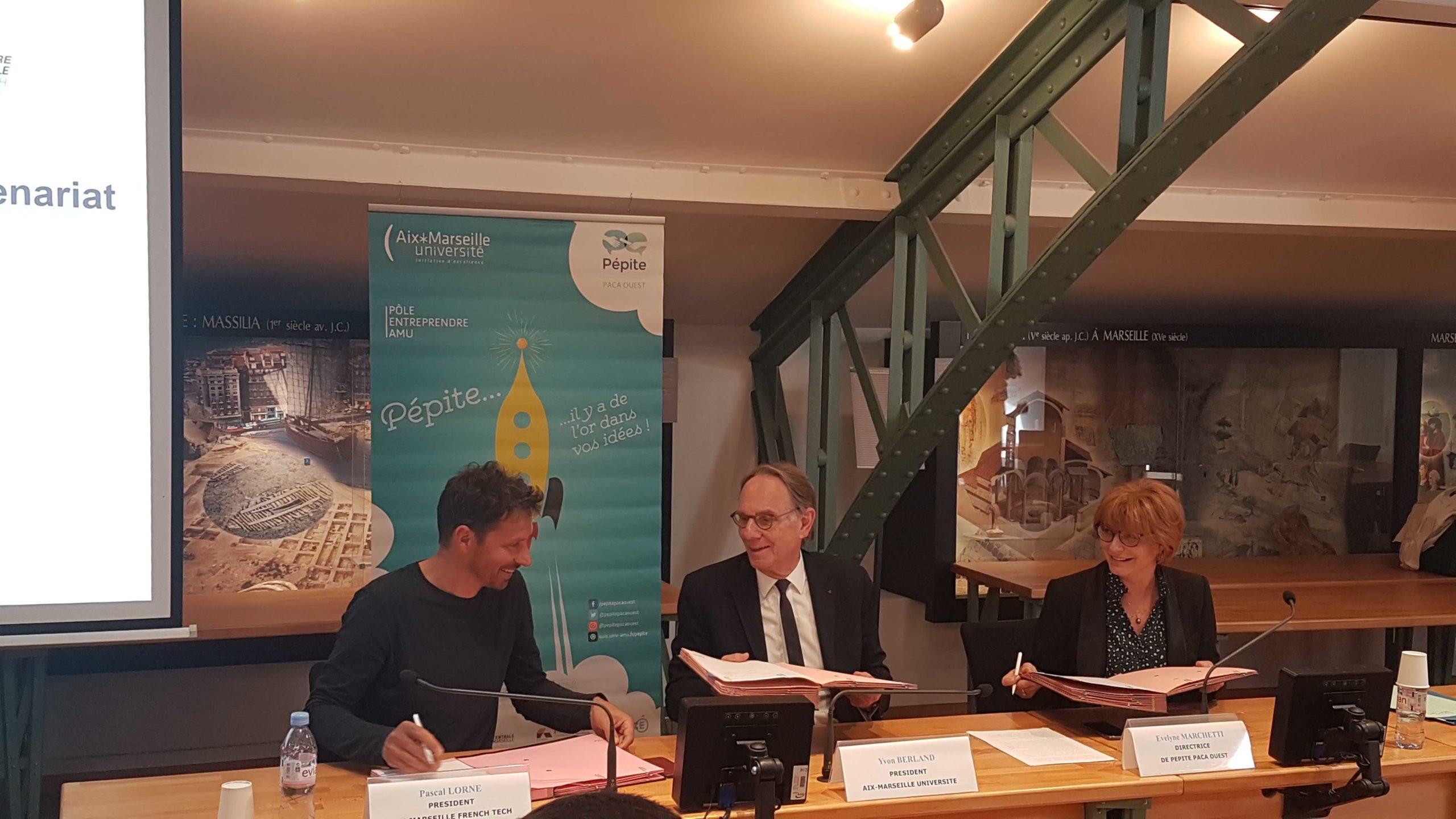 La French Tech Aix-Marseille signe une convention de partenariat avec le pôle PEPITE PACA OUEST d'Aix-Marseille Université