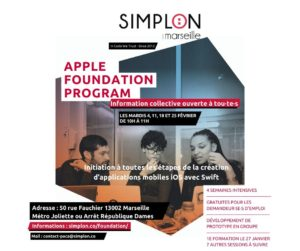 Formation Apple « Développer une application en Swift » – réunion d'informations @ Simplon Marseille