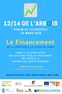 [12/14 de l'Arbois] Le Financement des start-up, de la création à la levée de fonds @ Forum du Technopôle de l'Arbois