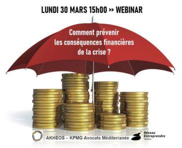 WEBINAR 30 MARS 15h00 : COVID19 – Comment prévenir les conséquences financières de la crise ?