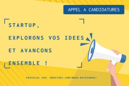 Appel à candidatures OBRATORI – Explorons vos idées & accélérons ensemble !