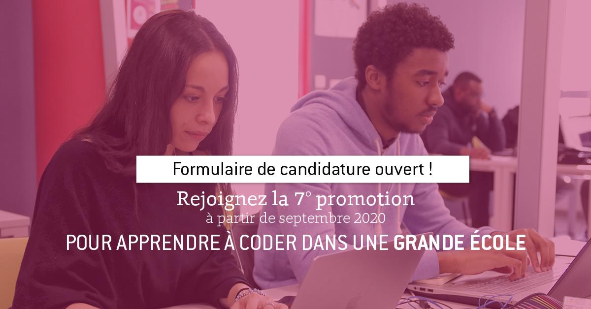 Apprenez le métier de développeur web full-stack : rejoignez la 7° promotion de Passerelle Numérique !