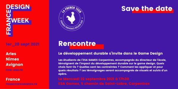 Rencontre Esa Games – France Design Week