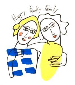Happy Funky Family Portrait
