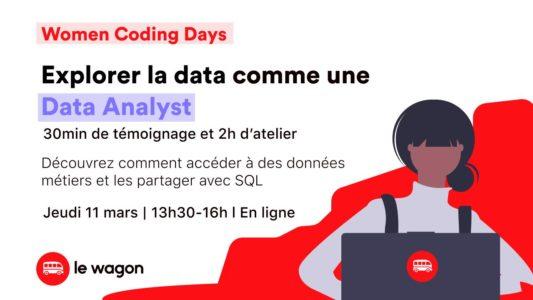 WOMEN CODING DAYS – Explorer la data comme une Data Analyst