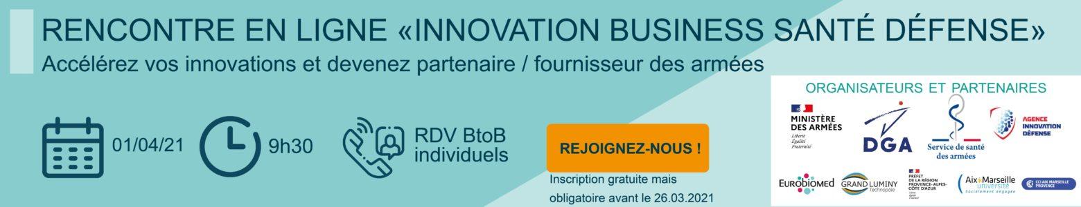 Rencontre «Innovation Business Santé Défense» (Webinaire)