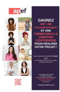 Concours de création d'entreprise de l'APEF – association de promotion de l'entrepreneuriat féminin