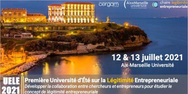 Première Université d'Eté sur la Légitimité Entrepreneuriale (en distanciel)