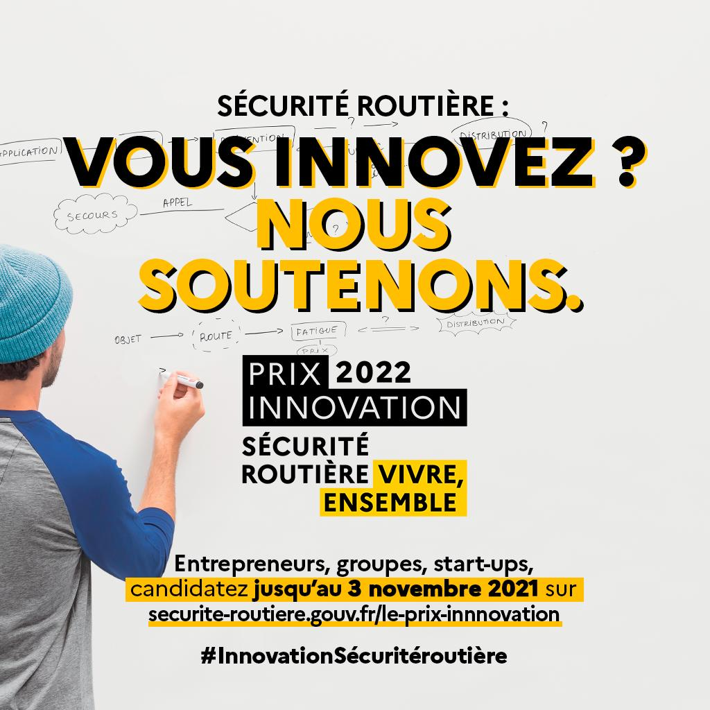 Prix innovation sécurité routière 2022 – organisé par La Délégation à la sécurité routière
