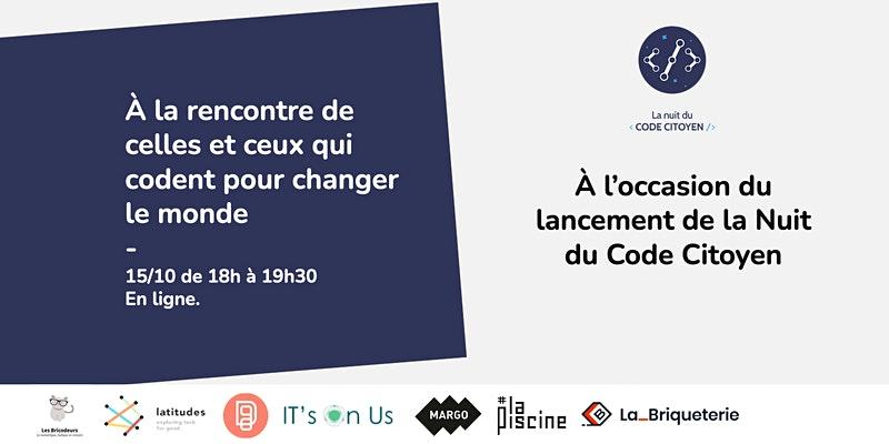 Hackathon national : La Nuit du code citoyen